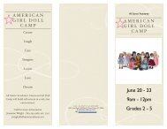 American Girl Doll Camp 2011 - All Saints Academy