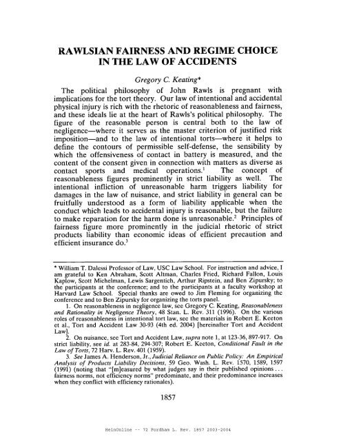 HeinOnline -- 72 Fordham L. Rev. 1857 2003-2004