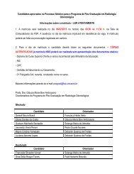 Candidatos aprovados no Processo Seletivo para o ... - Unicamp