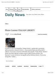 Photo Contest ITALIAN LIBERTY - Daily News - Andrea Speziali