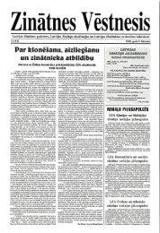 Zinātnes Vēstnesis - Latvijas Zinātņu Akadēmija