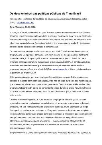 Os descaminhos das políticas públicas de TI no Brasil