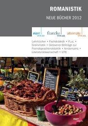 romanistik 150 - Gunter Narr Verlag/A. Francke Verlag/Attempto Verlag