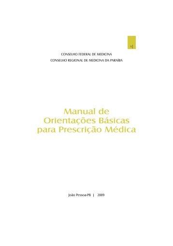 Manual de Orientações Básicas para Prescrição Médica - Conselho ...