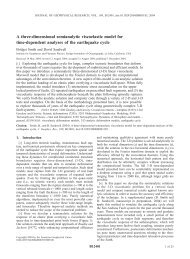 A three-dimensional semianalytic viscoelastic model for time ...