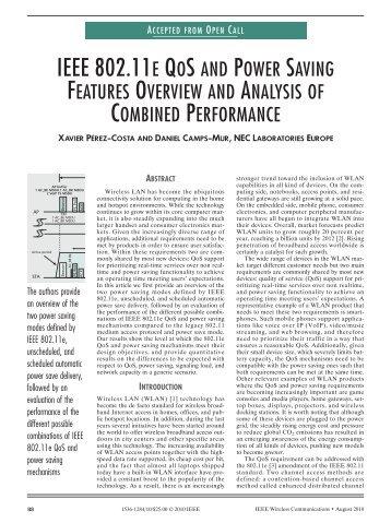 IEEE 802.11E QOS AND POWER SAVING - IEEE Xplore