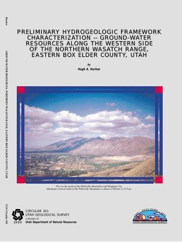 preliminary hydrogeologic framework characterization - Utah ...