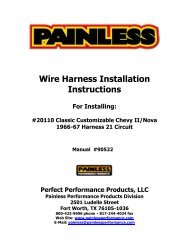 Wire Harness Installation Instructions - Painless Wiring