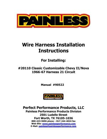 wire harness installation instructions painless wiring?quality=85 fitting instructions for nissan t31 x trail towbar wiring harness 20110 wiring harness at cos-gaming.co