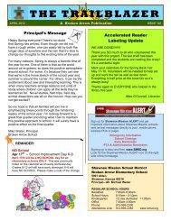 THE TRAILBLAZER - Teachers - Shawnee Mission School District