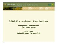 2008 Focus Group Resolutions - Forest Health Monitoring