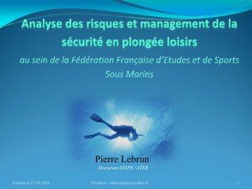 Pierre Lebrun - Université de Poitiers