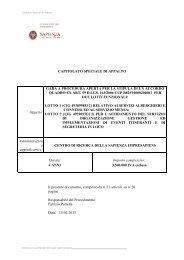 Capitolato Speciale - Dipartimento di Comunicazione e Ricerca ...