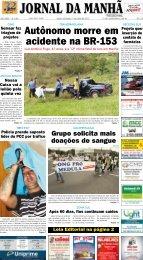 Autônomo morre em acidente na BR-153 - Jornal da Manhã