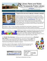 tell a winter tale - North Tonawanda Public Library