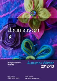 Autumn / Winter 2012 /13 - The Burnavon