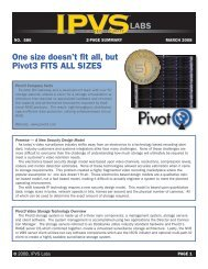 IPVS - Labs Report - Pivot3