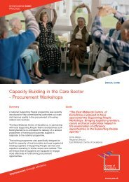 Capacity Building in the Care Sector - Procurement Workshops