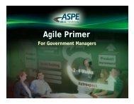 Agile Primer For Government Managers - ASPE – SDLC Training