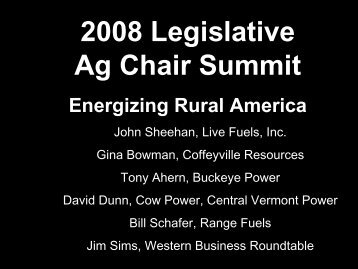 John Sheehan - State Agriculture and Rural Leaders