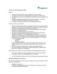 Learner Assessment Malpractice Policy Aims of ... - Ruskin Mill Trust