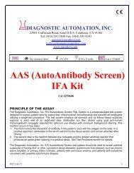 AAS (AutoAntibody Screen) IFA Kit - ELISA kits - Rapid tests
