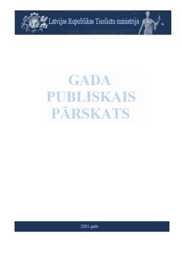 Tieslietu ministrijas 2001.gada publiskais pārskats (pdf)