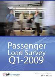 Passenger Load Survey 2009 - Queensland Rail