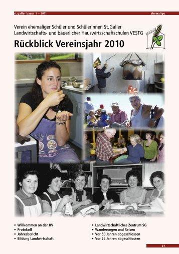 Rückblick Vereinsjahr 2010 - VESTG
