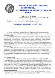 société archéologique, historique, littéraire et scientifique du gers