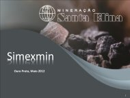Programa de Exploração Mineral da Santa Elina - ADIMB