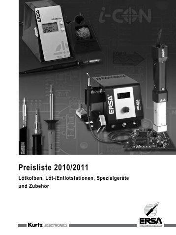 Preisliste 2010/2011 - ERSA-Shop