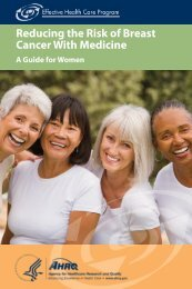 Risk of Breast Cancer - AHRQ Effective Health Care Program