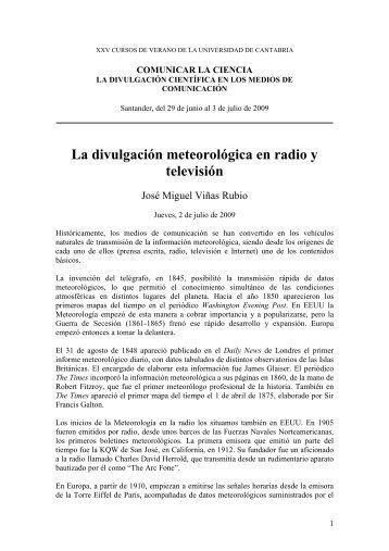 Resumen de la ponencia - Divulgameteo
