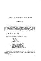 Addenda et corrigenda epigraphica