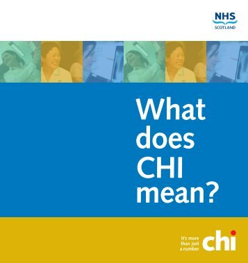 What does CHI mean - eHealth