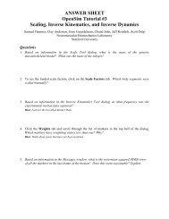 ANSWER SHEET OpenSim Tutorial #3 Scaling, Inverse Kinematics ...
