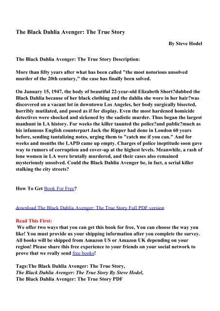The Black Dahlia Ebook