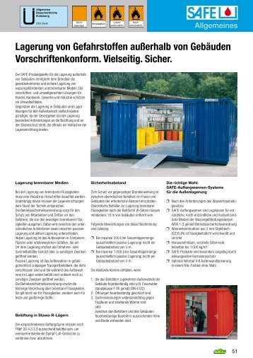 Lagerung von Gefahrstoffen außerhalb von Gebäuden ...