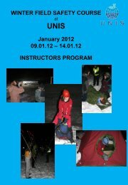 WINTER FIELD SAFETY COURSE UNIS January 2008 07.01.08 ...