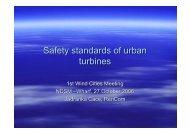 Safety standards of urban turbines