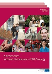 A Better Place Victorian Homelessness 2020 Strategy - NWHN