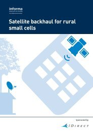 Satellite backhaul for rural small cells - Informa Telecoms & Media