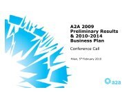 A2A 2009 Preliminary Results & 2010-2014 Business Plan