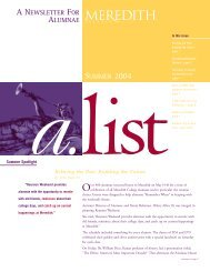 a.list Winter 04 - Meredith College