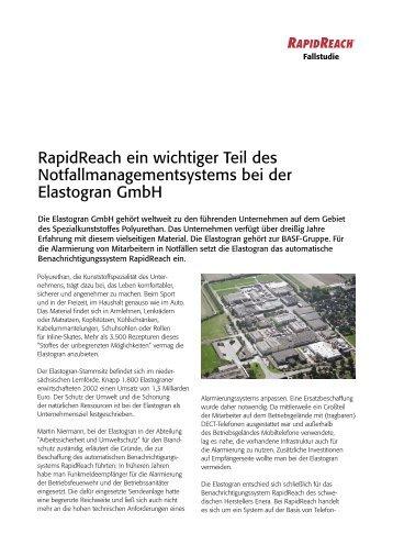 RapidReach ein wichtiger Teil des ... - Swissphone