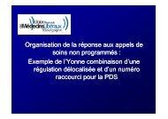 Consulter le diaporama du Dr CASSET - L'Union Régionale des ...