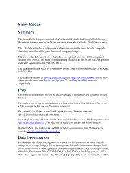 Snow Radar - CReSIS Data Products