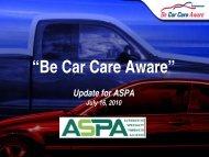 Be Car Care Aware