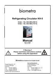Refrigerating Circulator KH-5 Manual